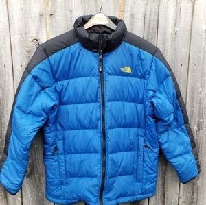 The North Face 550 blue down puffer jacket M